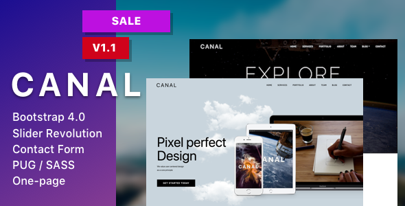 Canal - Single page HTML Template