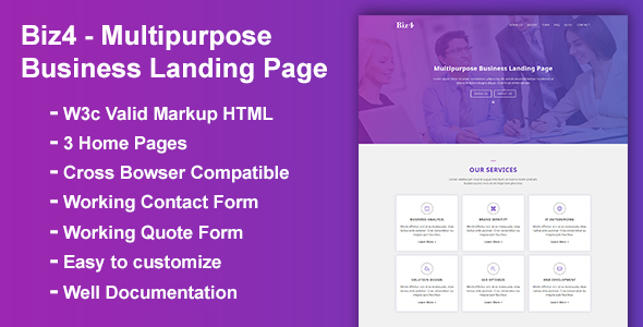 Biz4 - Multipurpose Business Landing Page