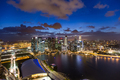 lights of the singapore downtown at evening - PhotoDune Item for Sale
