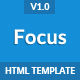 Focus - Multi Purpose App Landing Page Template - ThemeForest Item for Sale