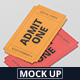 Event Ticket Mockup - Small Size - GraphicRiver Item for Sale
