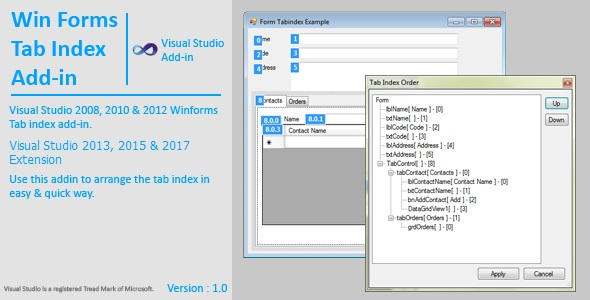 WinForms Tab Index Extension / AddIn