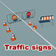 Traffic signs (reconstruction) - 3DOcean Item for Sale