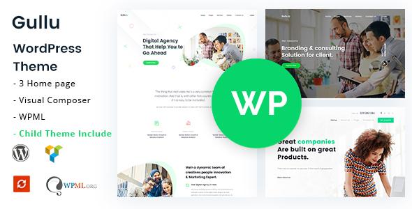 Gullu – Creative Digital Agency & Multipurpose WordPress Theme