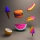 toon food - 3DOcean Item for Sale