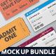Ticket Mockup Bundle - GraphicRiver Item for Sale