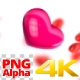 Beautiful Flying 3D Hearts - VideoHive Item for Sale