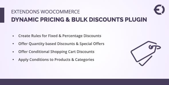Extendons WooCommerce Dynamic Pricing Plugin & Bulk Discounts