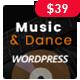 Music & Dance WordPress Theme - ThemeForest Item for Sale
