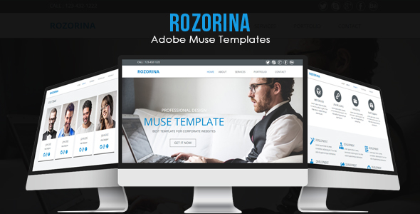 Rozorina Adobe Muse Template