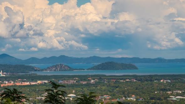 Town View of Phuket Island, Thailand