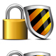 Padlock and Shield - Keeping You Safe Icons - GraphicRiver Item for Sale