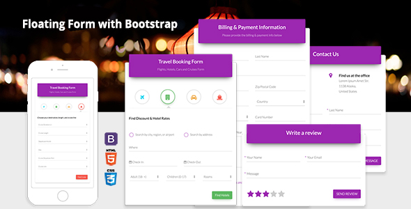 Floating Form with Bootstrap 4