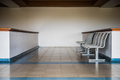 Small row of chairs in waiting room in Caribbean airport. - PhotoDune Item for Sale