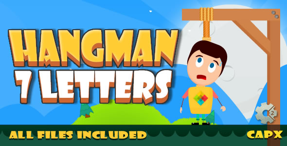 Hangman 7 letter - (HTML5 & CAPX + Admobs) Game