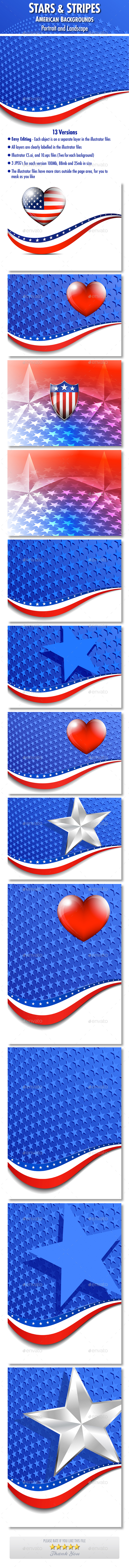 Stars & Stripes American Backgrounds