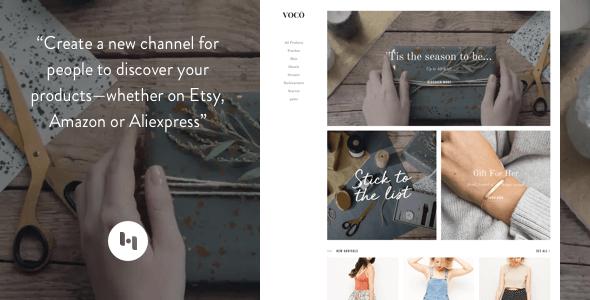 VOCO: Product showcasing theme for merchant