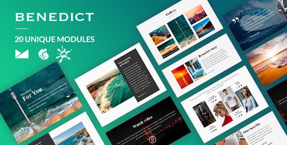 Benedict Email-Template + Online Builder