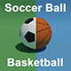 Soccer Ball and Basketball Ball - 3DOcean Item for Sale