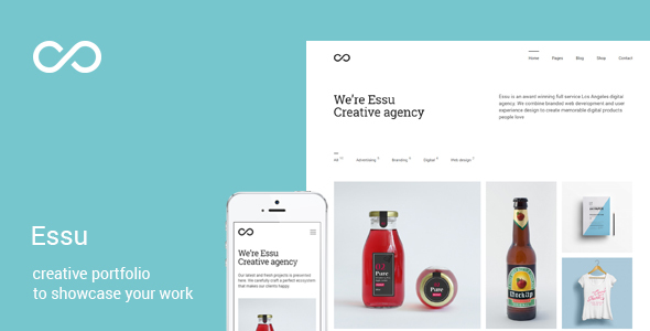 Essu - Simple Portfolio WordPress Theme