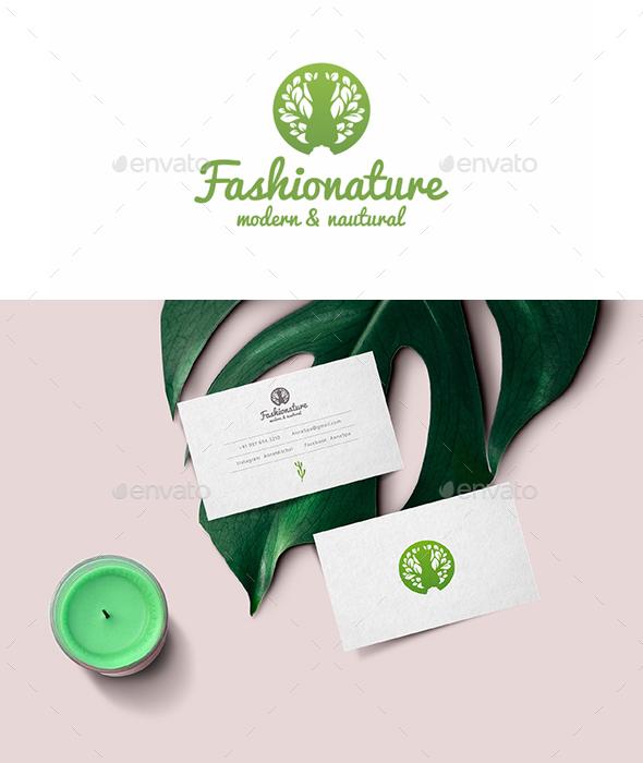 Fashion Nature Tailoring Logo Template