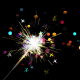 Loop-able Colorful Sparkler Background And Assets V10 - VideoHive Item for Sale