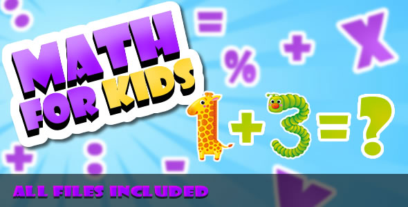 Math for Kids (CAPX & HTML) Game