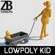 Lowpoly Kid 014 - 3DOcean Item for Sale
