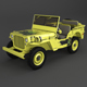 Willys Jeep Low Poly