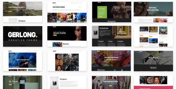 Gerlong - Responsive One & Multi Page Portfolio Theme