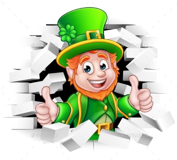 Cartoon Leprechaun St Patricks Day