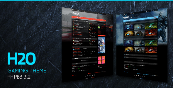 H2O - Action / Gaming Responsive phpBB 3.2 Theme