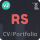 Resume, CV & vCard Theme - ThemeForest Item for Sale