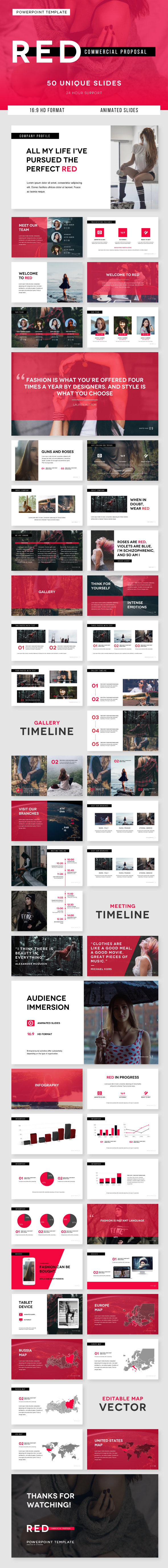 RED Commercial Proposal - PowerPoint Template