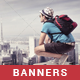 Tours & Travel Banner Set - GraphicRiver Item for Sale