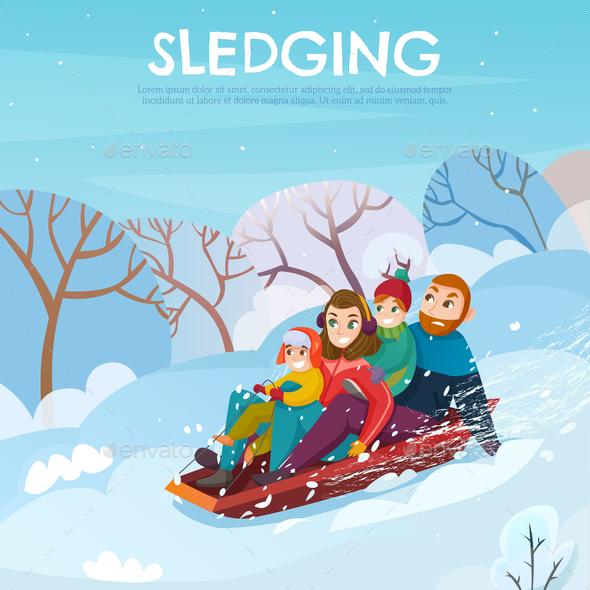 Winter Recreation Illustration