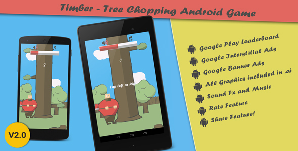 Timber - Tree Chopping Android Arcade Game