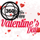 Facebook 360 Degree Valentines Day Template - GraphicRiver Item for Sale