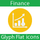 Finance Flat Glyph Icons - GraphicRiver Item for Sale