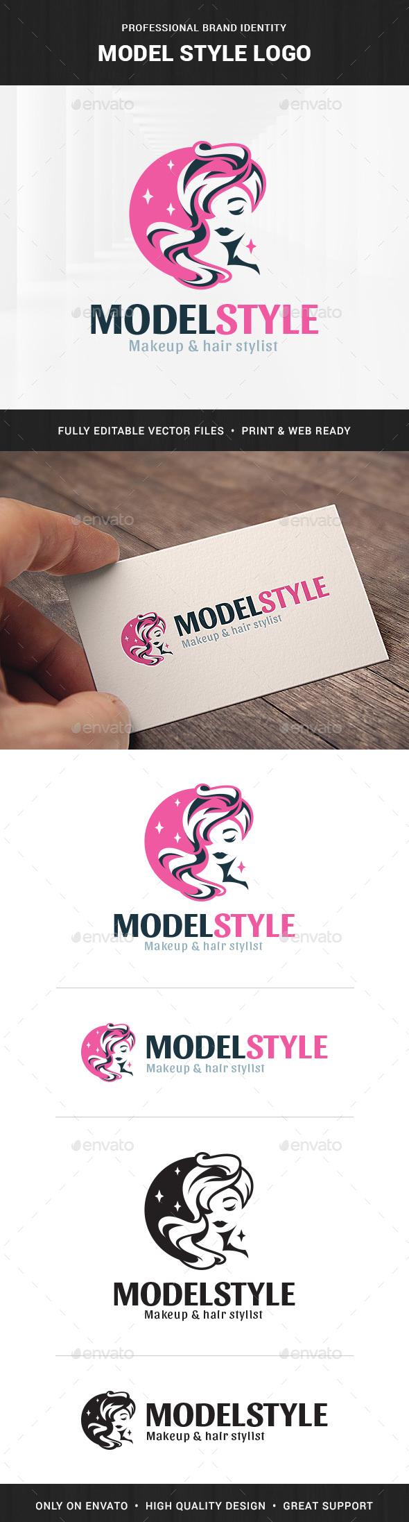 Model Style Logo Template