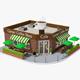 Corner Coffee Shop (interior/exterior) - 3DOcean Item for Sale