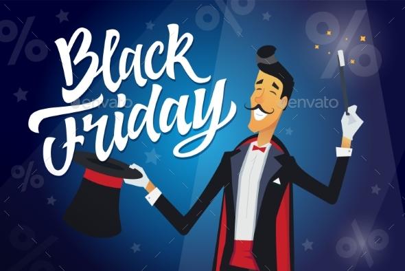 Black Friday - Cartoon Character