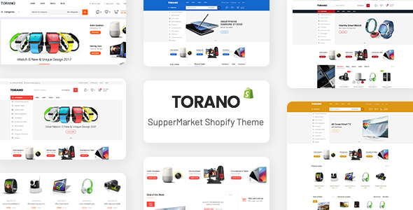 Torano - Supermarket Marketplace Ultimate Shopify Theme Section Ready