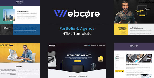 Webcore : Portfolio & Agency HTML Template