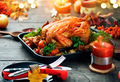 Thanksgiving holiday dinner. Served table with roasted turkey - PhotoDune Item for Sale