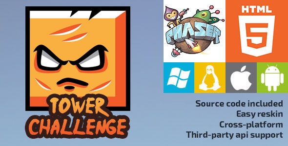 Tower Challenge - HTML5 Game - Phaser Download