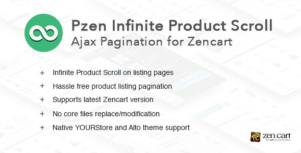 Pzen Infinite Scroll for Zencart - Ajax Pagination
