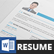 MS Word Clean Resume with Cover Letter - GraphicRiver Item for Sale