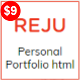REJU - One Page Personal Portfolio Template - ThemeForest Item for Sale