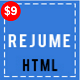 REJUME - Personal Resume Template - ThemeForest Item for Sale